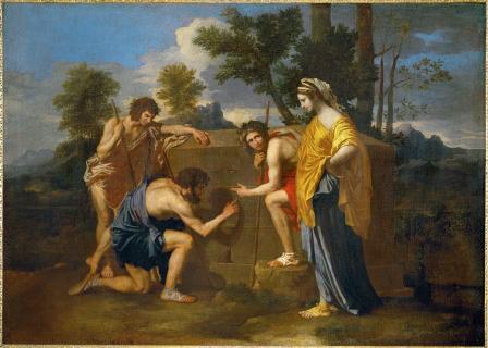 Nicolas Poussin. Les bergers d'Arcadie (1638-40)