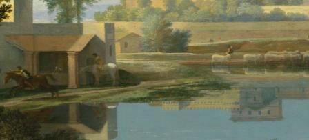 Nicolas Poussin. Paysage par temps calme, détail