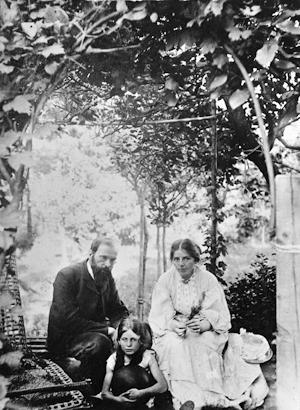 Otto Modersohn, Paula Modersohn-Becker et Elsbeth à Worpswede (v. 1904)