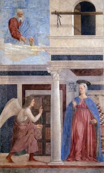 P. della F. Fresques Vraie Croix. L'Annonciation (1452-66)