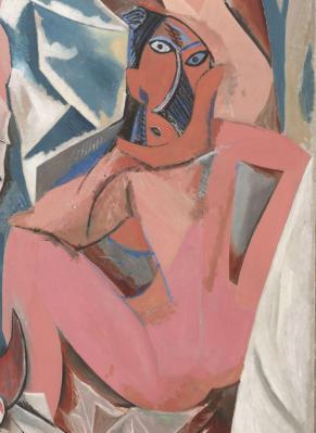Pablo Picasso. Les Demoiselles d'Avignon, détail (1907)