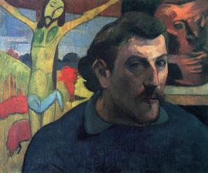 Paul Gauguin. Autoportrait au Christ jaune (1890-91)