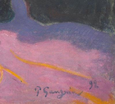Paul Gauguin. Fatata te Miti, détail