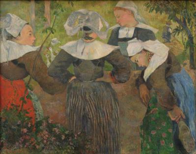 Paul Gauguin. La danse des quatre Bretonnes (1886)