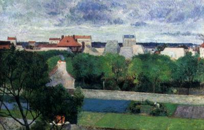 Paul Gauguin. Les jardins du marché de Vaugirard (1879)