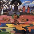 Paul Gauguin. Mahana no atua (Le jour du Dieu) (1894)