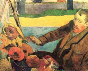 Paul Gauguin. Van Gogh peignant des tournesols (1888)