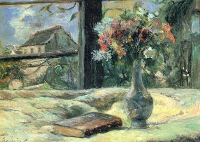 Paul Gauguin. Vase de fleurs à la fenêtre (v. 1880)