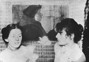 Paula Becker et Clara Westhoff dans l'atelier de Paula Becker (1899)