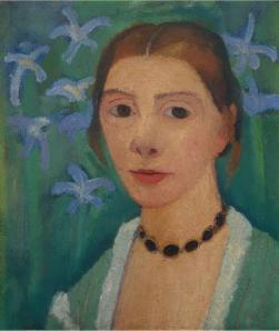 Paula Modersohn-Becker. Autoportrait aux iris bleus (1900-07)