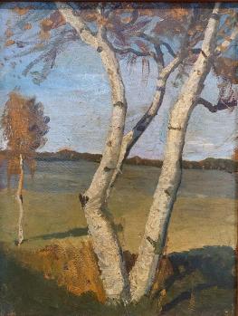 Paula Modersohn-Becker. Bouleau dans un paysage (1899)