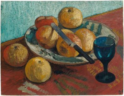 Paula Modersohn-Becker. Nature morte aux pommes et au verre (1906)