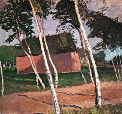 Paula Modersohn-Becker. Paysage de Worpswede (1900)