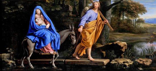 Philippe de Champaigne. La fuite en Égypte (1650-1660)