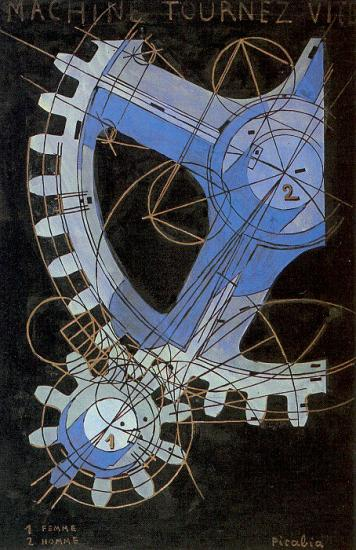 Francis Picabia. Machine à transformer rapidement (1916)