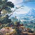Pierre-Antoine Patel. Paysage avec Diane chasseresse (1683)