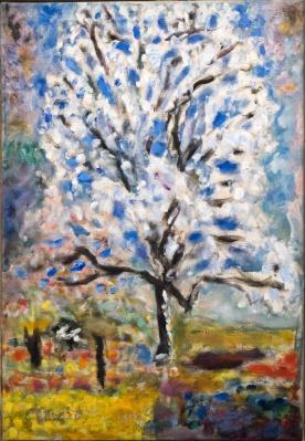 Pierre Bonnard. L'amandier en fleurs (1946-47)