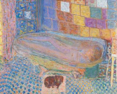 Pierre Bonnard. Nu dans la baignoire et petit chien (1941-46)