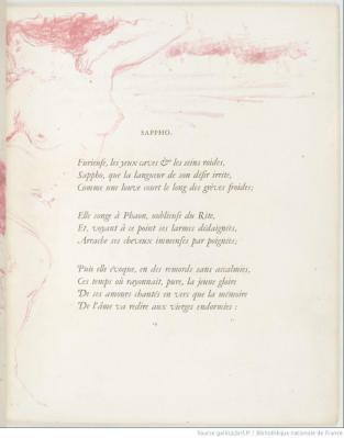 Pierre Bonnard. Parallèlement-Sappho (1900)