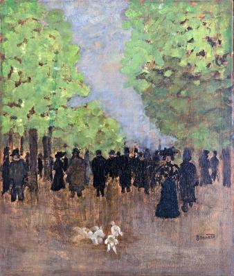 Pierre Bonnard. Scène de rue (v. 1894)