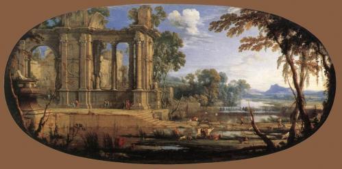 Pierre Patel. Paysage composé avec ruines antiques (1646-47)