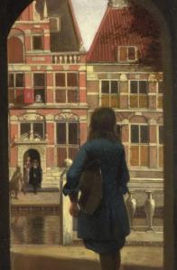 Pieter de Hooch. Réception musicale dans une cour, détail
