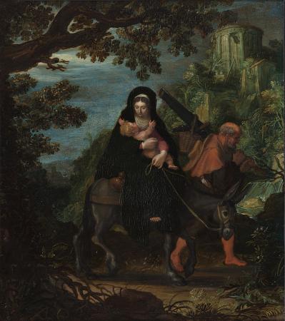 Pieter Lastman. La fuite en Égypte (1608)