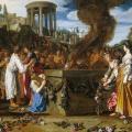 Pieter Lastman. Oreste et Pylade se disputant devant l'autel (1614)