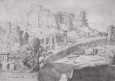 Pieter Lastman. Vue du Mont Palatin (1606)