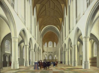 Pieter Saenredam. Intérieur de l'église Saint-Bavon à Haarlem (1631)