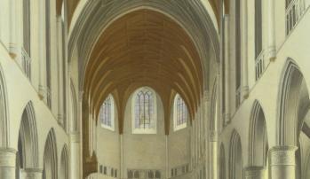Pieter Saenredam. Saint-Bavon, détail (1631)