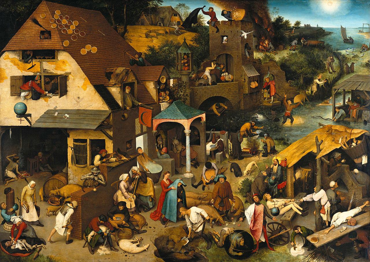 Pieter Brueghel l'Ancien. Les proverbes flamands (1559)