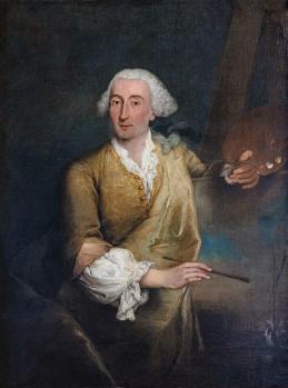 Pietro Longhi. Portrait de Francesco Guardi (1764)