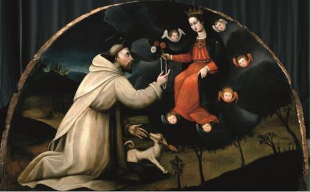Plautilla Nelli. Saint Dominique reçoit le chapelet (1550-88)