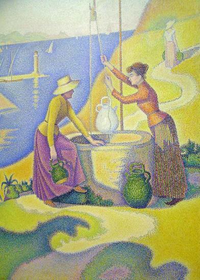 Signac. Femmes au puits (1892)