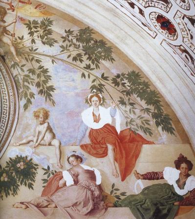 Pontormo. Vertumne et Pomone, détail 4 (1519-21)