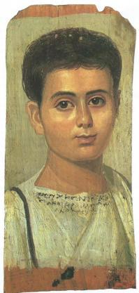 Portrait de jeune homme. Fayoum (2e siècle)