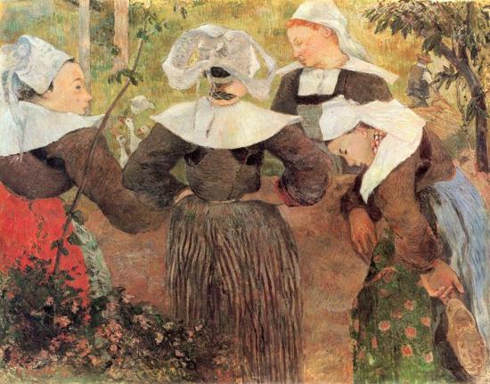 Gauguin. Quatre bretonnes, 1888