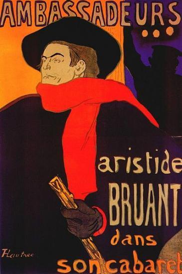 Toulouse-Lautrec. Aristide Bruant (affiche), 1892
