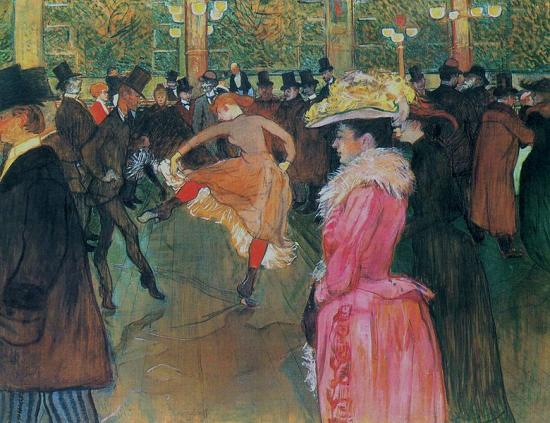 Toulouse-Lautrec.La danse au Moulin Rouge, 1890