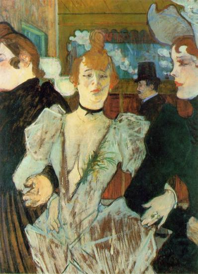 Toulouse-Lautrec. La Goulue arrivant au Moulin Rouge, 1892