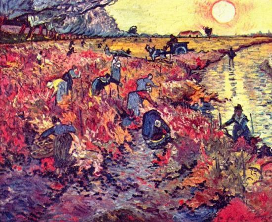 Van Gogh. La vigne rouge, 1889