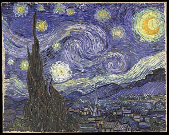 Van Gogh. La nuit étoilée, 1889