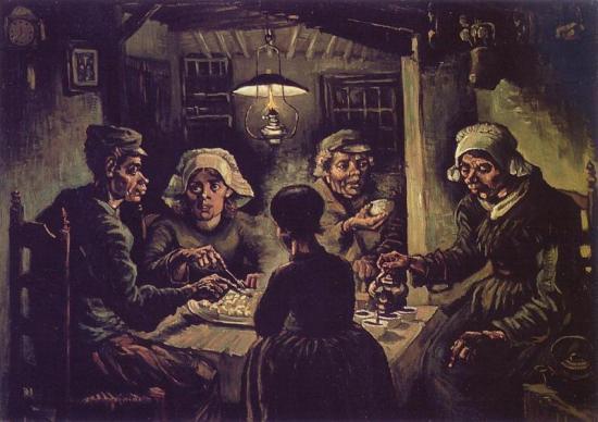 Van Gogh. Mangeurs de pommes de terre, 1885