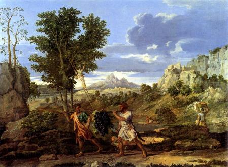 Nicolas Poussin. L'Automne ou La Grappe de raisin rapportée de la terre promise (1660-64)