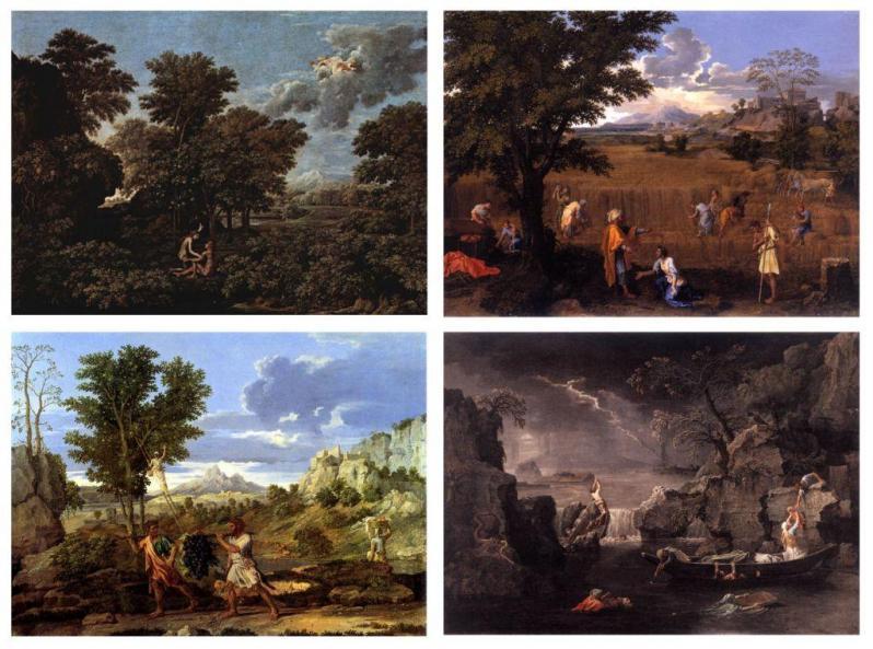 Nicolas Poussin.  Les saisons (1660-64)