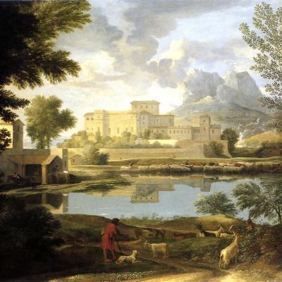 Nicolas Poussin. Paysage par temps calme (1651)