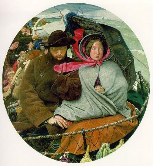 Madox Brown. The Last of England (1852-55)