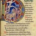 Psautier de Saint-Alban, lettrine (v. 1125)