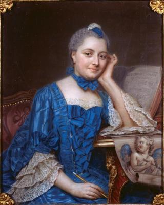 Quentin de la Tour. Portrait de Marie Fel (1757)